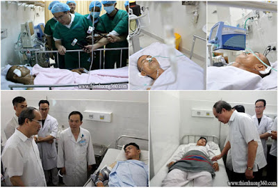 Ba hiệp sĩ bắt cướp bị thương đang được điều trị tại bệnh viện