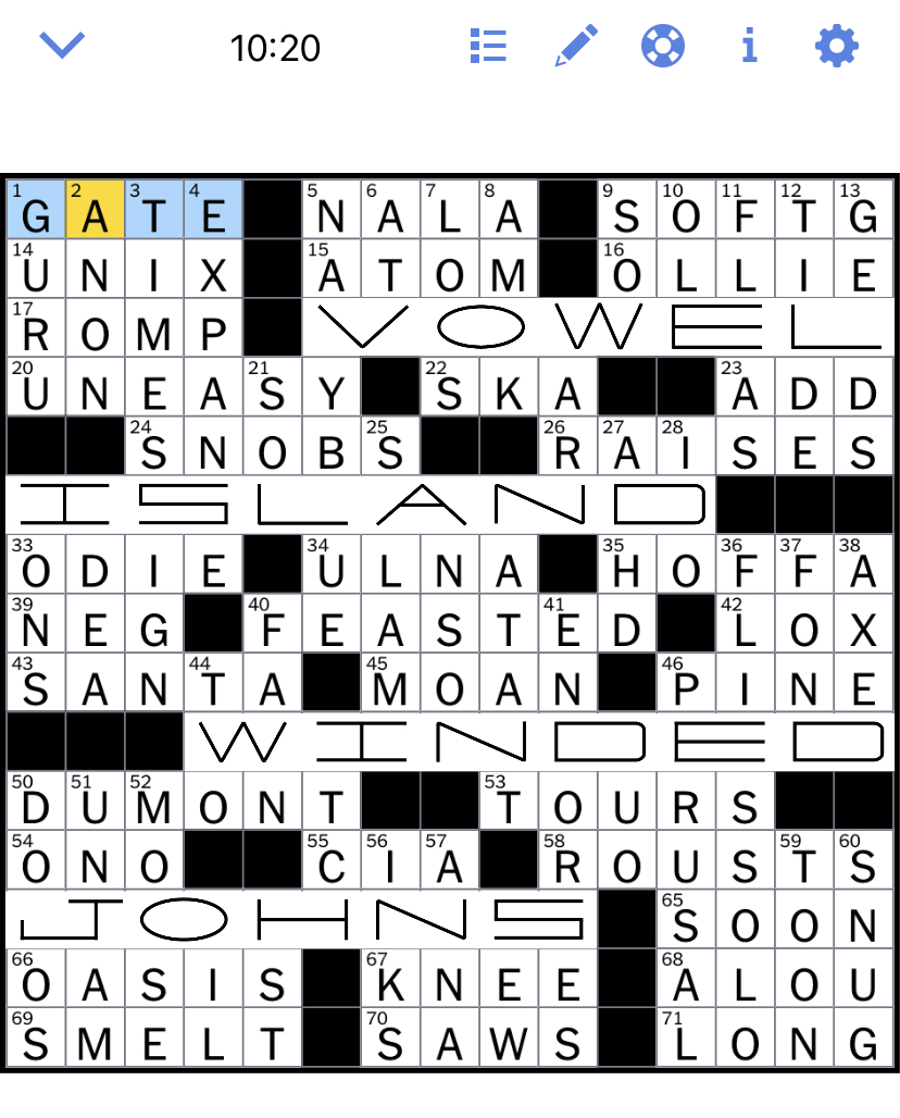 Nyt Cr : Times, Crossword, Puzzle, Solved:, November