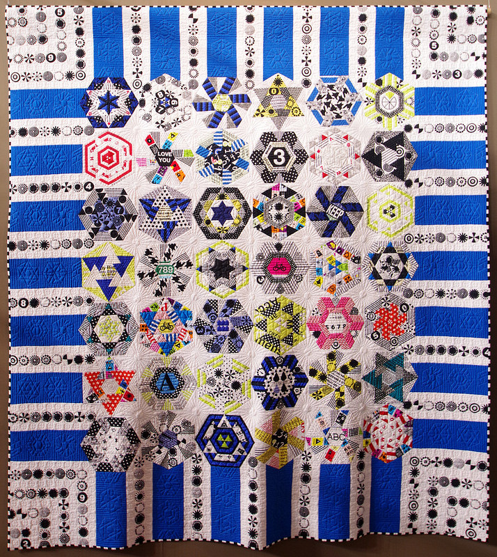 Tokyo International Quilt Festival 2018 | Rolling Hexagons | © Red Pepper Quilts 2018