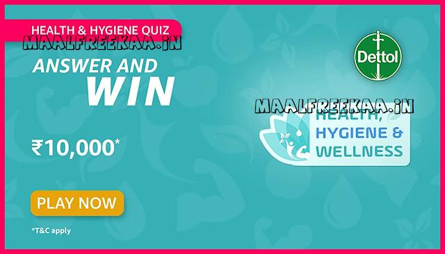 Amazon Health & Hygiene Quiz Time Answer