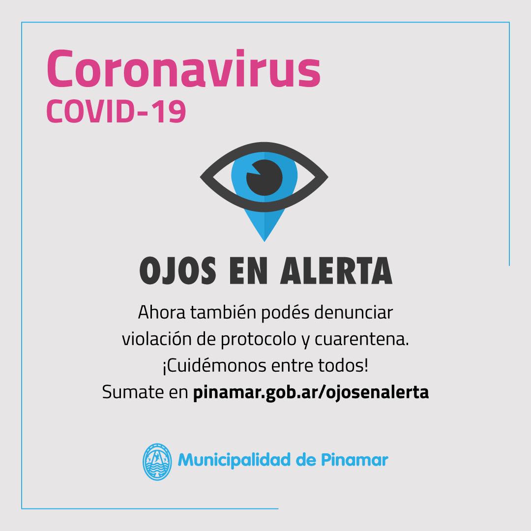 Coronavirus, Ojos en alerta