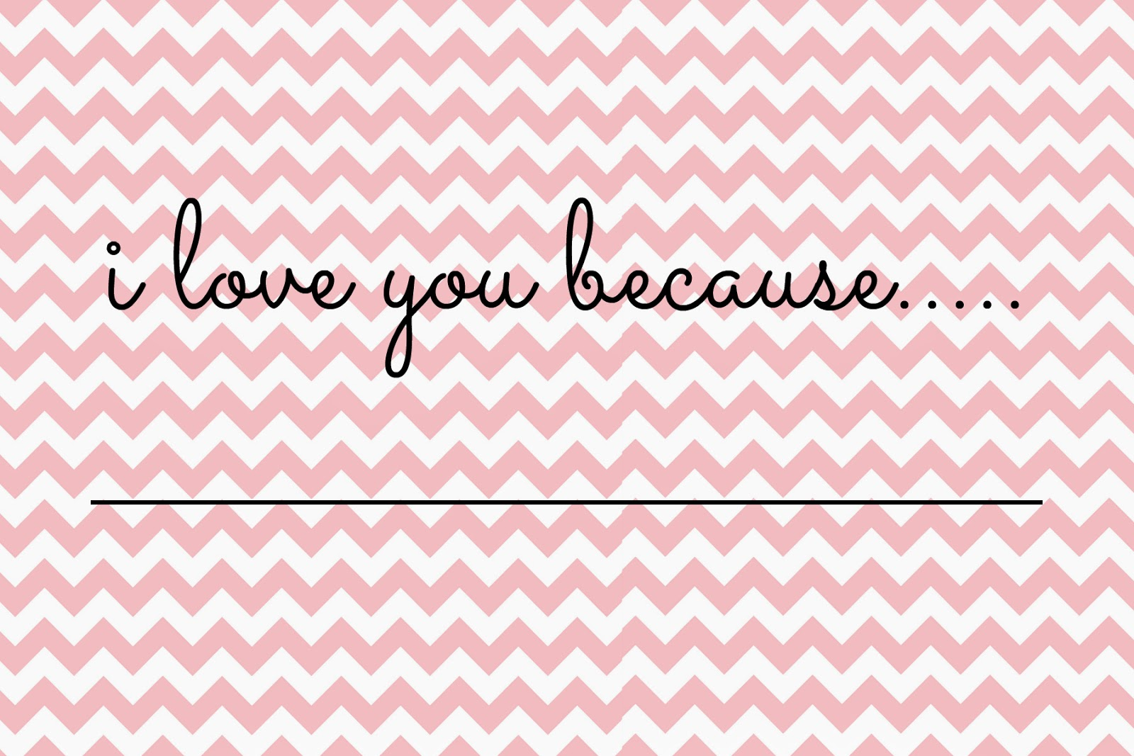 Free Valentines Printable - Chevron Pink Printable - DIY Valentines Project