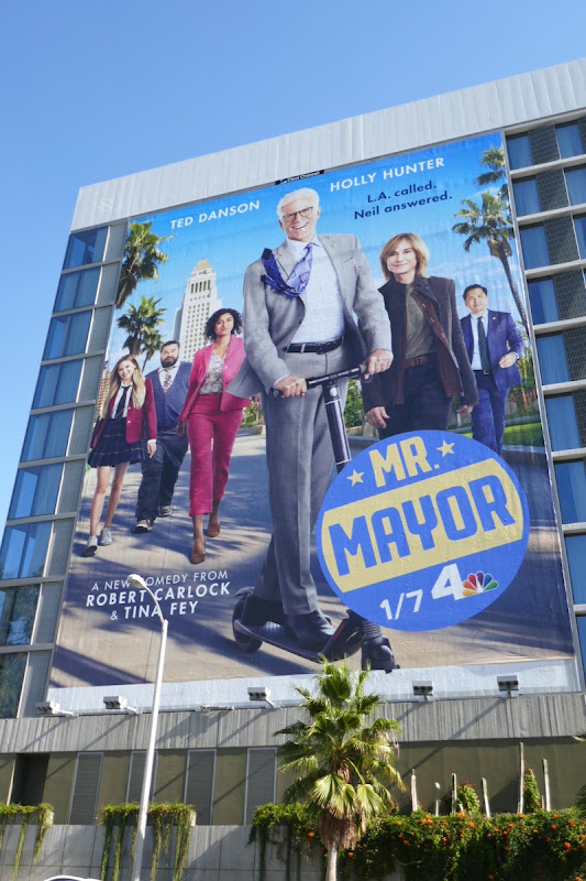 Giant Mr Mayor series launch billboard