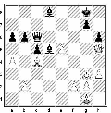 Posición de la partida de ajedrez Anna Maria Botsari - Ilaha Kadimova (Campeonato de Europa por equipos de 1992)