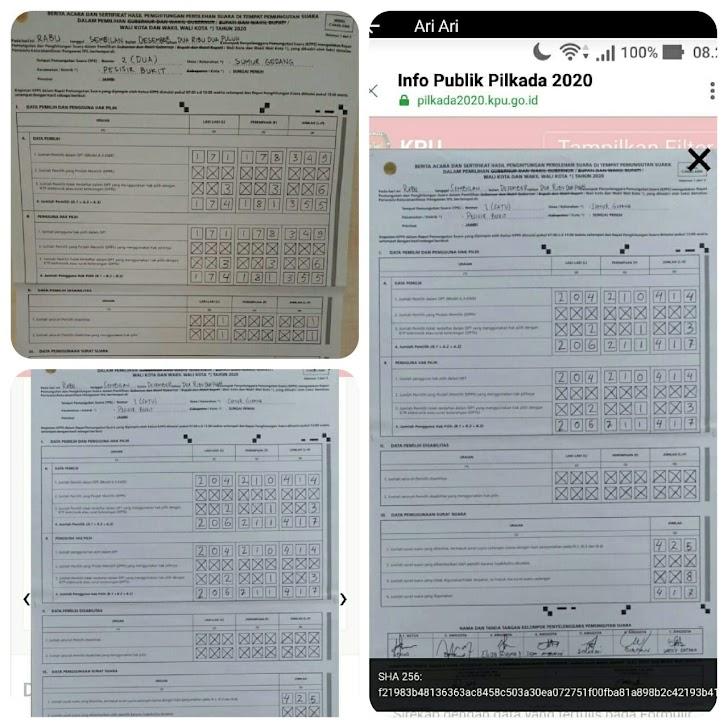 Surat Suara Terpakai Melebihi DPT di Beberapa TPS, Diduga Terjadi Penggelembungan Suara di Sungai Liuk