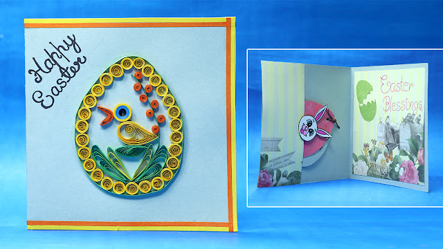 DIY Quilling Easter Card
