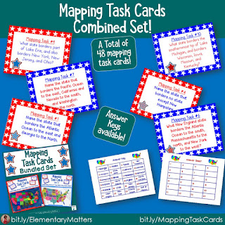 Mapping Task Cards USA