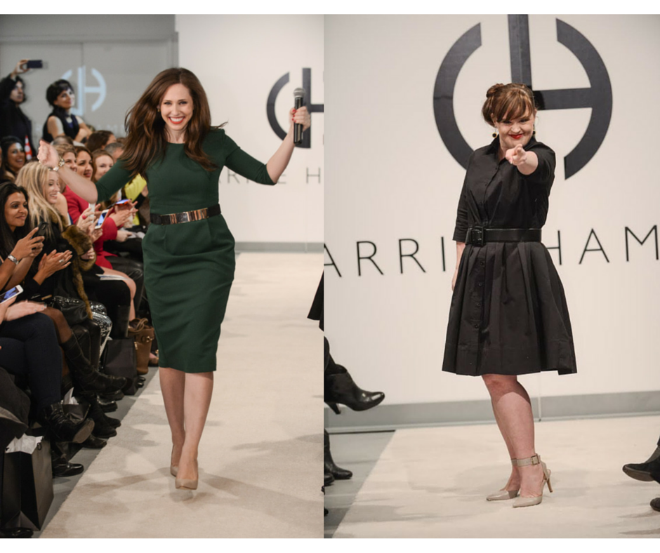 Carrie Hammer and Jamie Brewer at NYFW