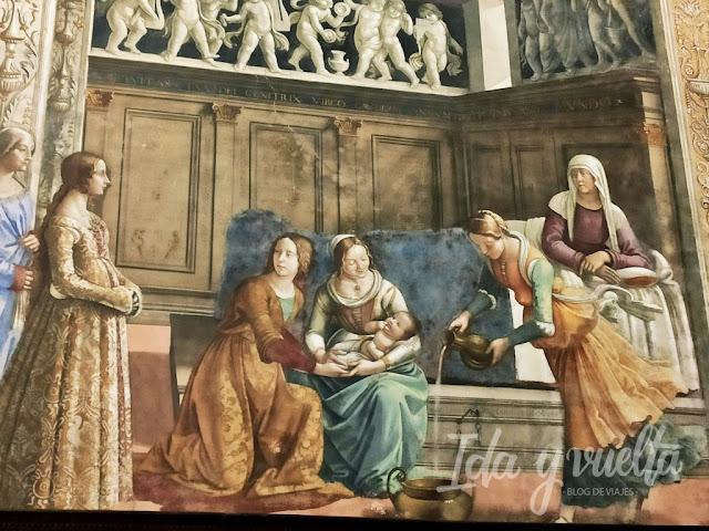 Santa Maria Novella frescos Ghirlandaio