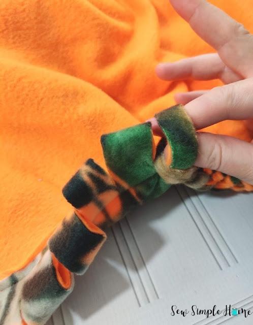 braided fleece blanket