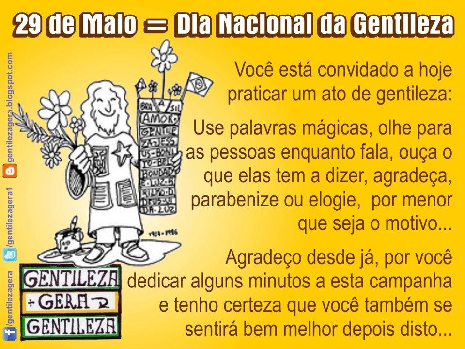 Aglomerado 29 De Maio Dia Nacional Da Gentileza