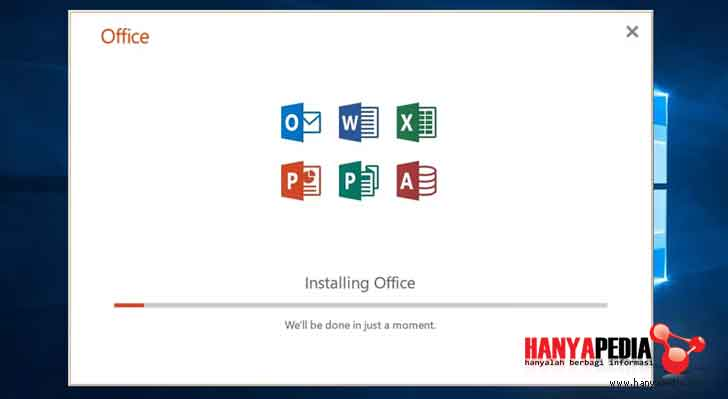 Sukses install office 365