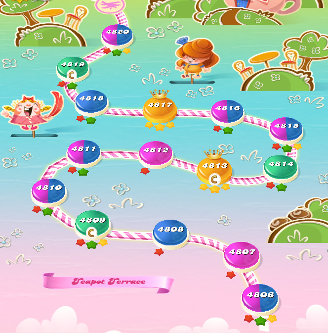 Candy Crush Saga level 4806-4820