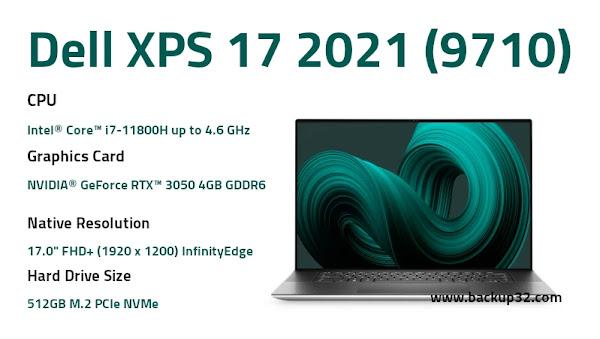 مواصفات لاب توب Dell XPS 17 9710 بمعالج من الجيل العاشر
