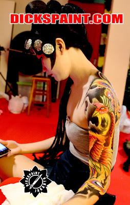 Body Painting Phoenix Yakuza Jakarta