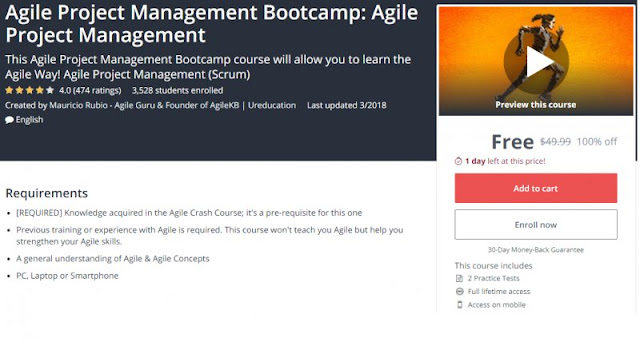 [100% Off] Agile Project Management Bootcamp: Agile Project Management| Worth 49,99$
