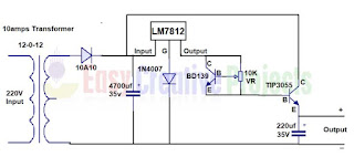 12v adjustable current power supply circuit diagram