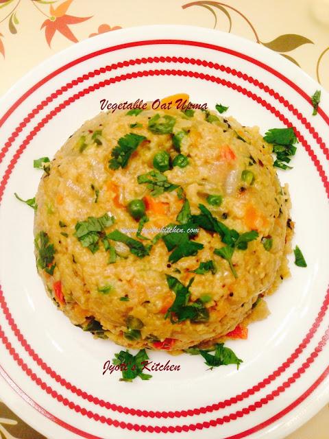 Vegetable Oat Upma Recipe