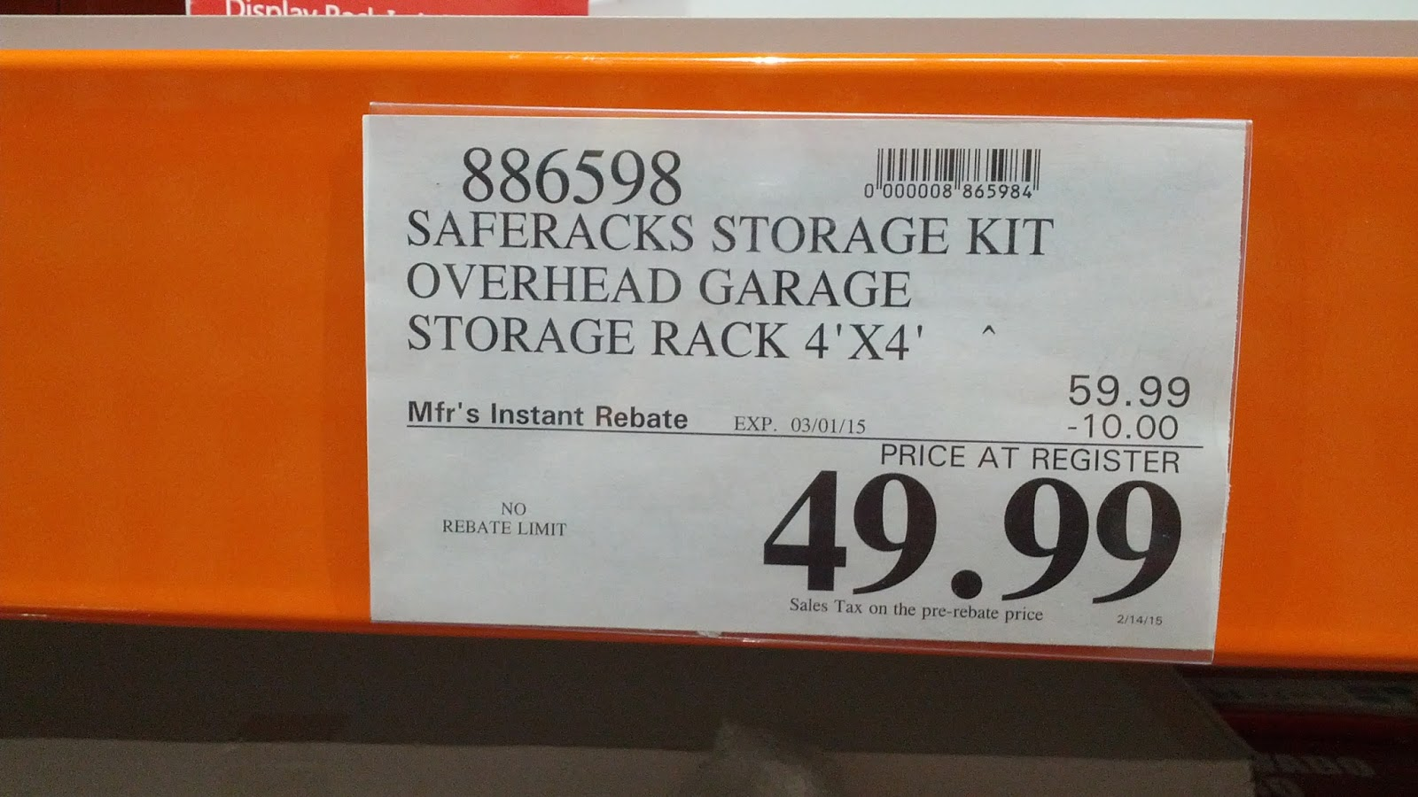 Garage Storage Costco Saferacks Storage Kit Steel Overhead Garage Rack Costco Weekender