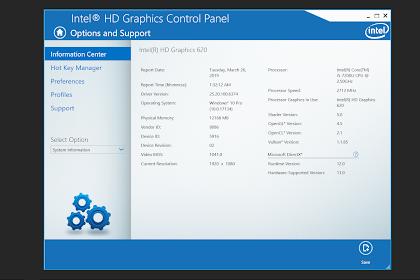 Intel HD Graphic Driver Terbaru Dengan Dukungan Vulkan 1.1.89 dan Windows Modern Driver
