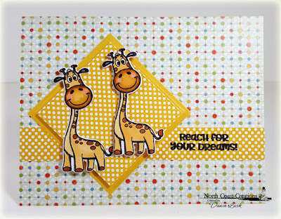 North Coast Creations Stamps & Dies: Go Wild, ODBD Paper Collection: Birthday Brights, ODBD Custom Dies: Double Stitched Squares, Squares