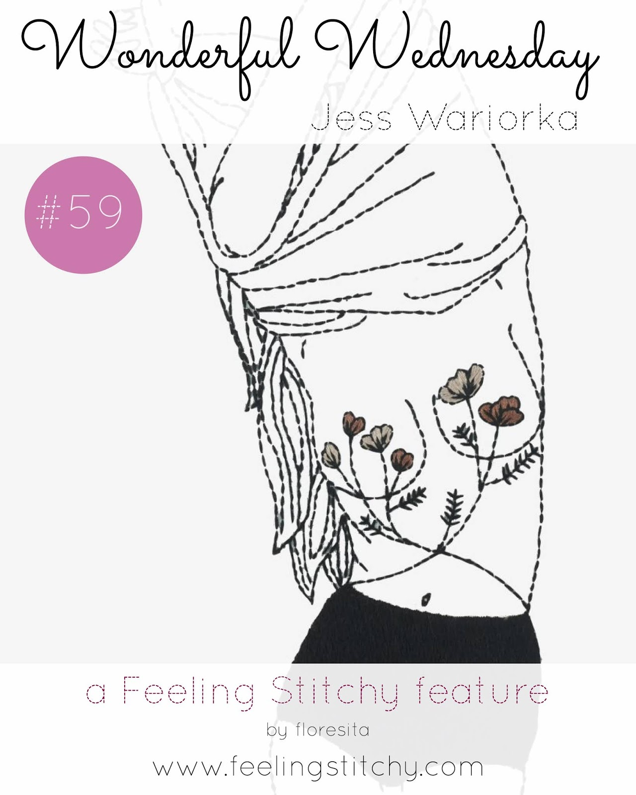 Wonderful Wednesday 59 - Free In Bloom pattern by Jess Wariorka as featured by floresita on Feeling Stitchy