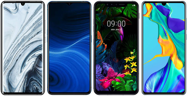 Xiaomi Mi Note 10 128 GB vs Realme X2 Pro 128 GB vs LG G8s ThinQ vs Huawei P30