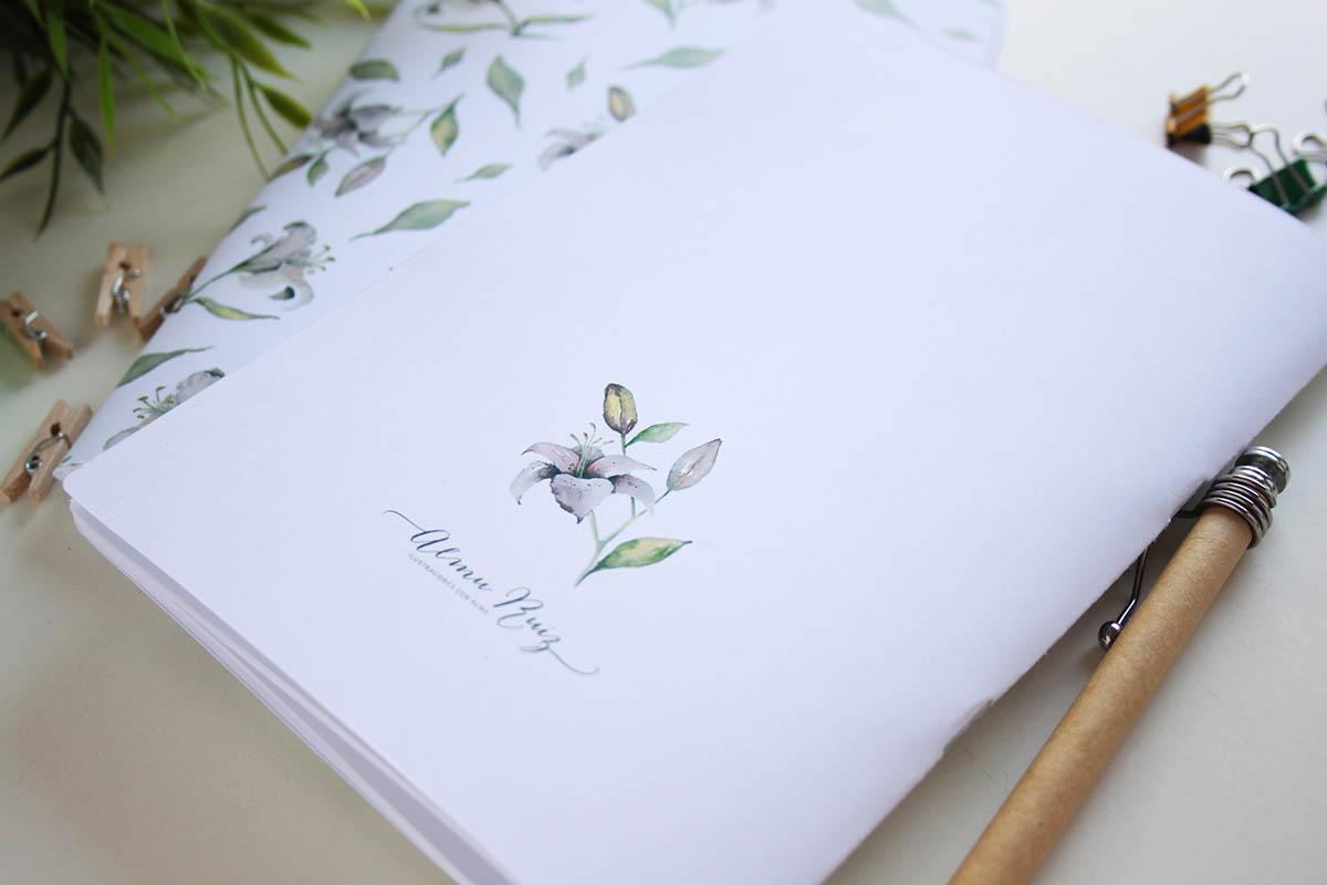 Cuadernos con ilustraciones de acuarela