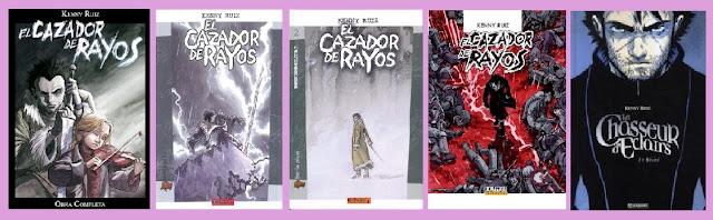 Portadas del cómic distópico de ciencia ficción El cazador de Rayos