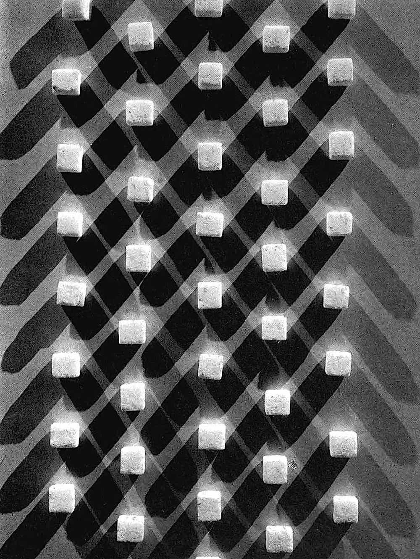 an old photograph of sugar cubes and shadow, Edward Steichen