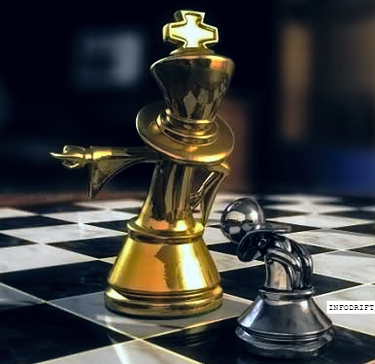 king and pawn