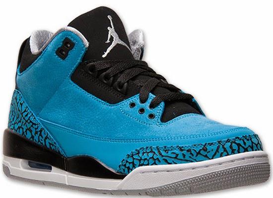 half off f3301 fb520 Air Jordan 3 Retro Dark Powder Blue White-Black-Wolf Grey Release Reminder
