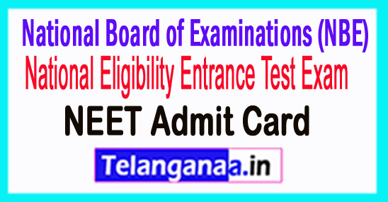 NEET PG Admit Card 2018 Download