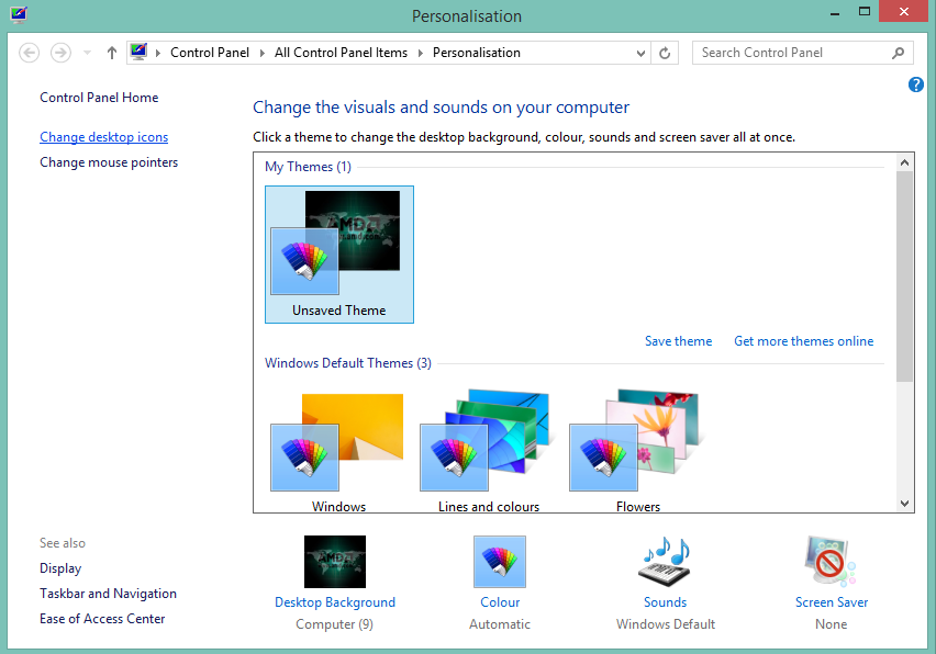 Cara Menampilan Icon My Computer Di Dekstop Windows 8
