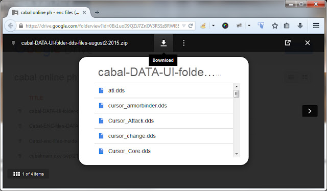 CLICK TO Download Cabal Online PH .enc, .dds, .ebm, .efx files