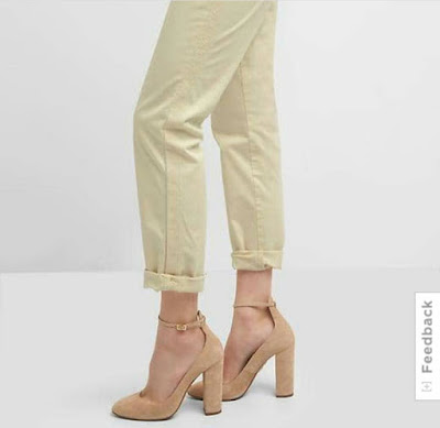 GAP Embroidery side-stripe girlfriend chino