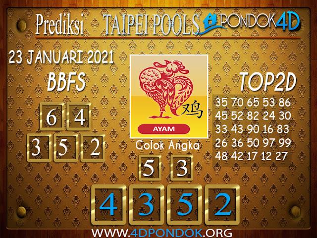 Prediksi Togel TAIPEI PONDOK4D 23 JANUARI 2021
