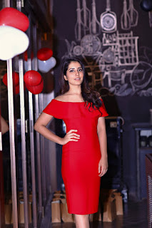 Actress Rashi Khanna Birthday Party Images In Red Dress