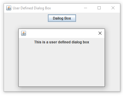 user defined dialog box
