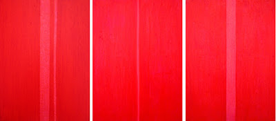 Farbflächenmalerei, Rotes Tryptichon, abstrakte Malerei