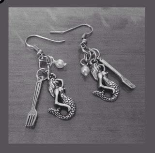 pierced mermaid earrings