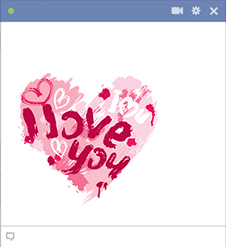Love painted heart sticker