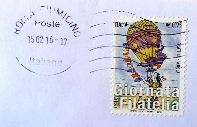francobollo Giornata della Filatelia e Scuola