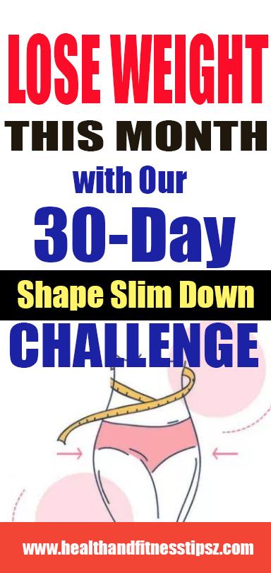 SHAPE SLIM DOWN CHALLENGE