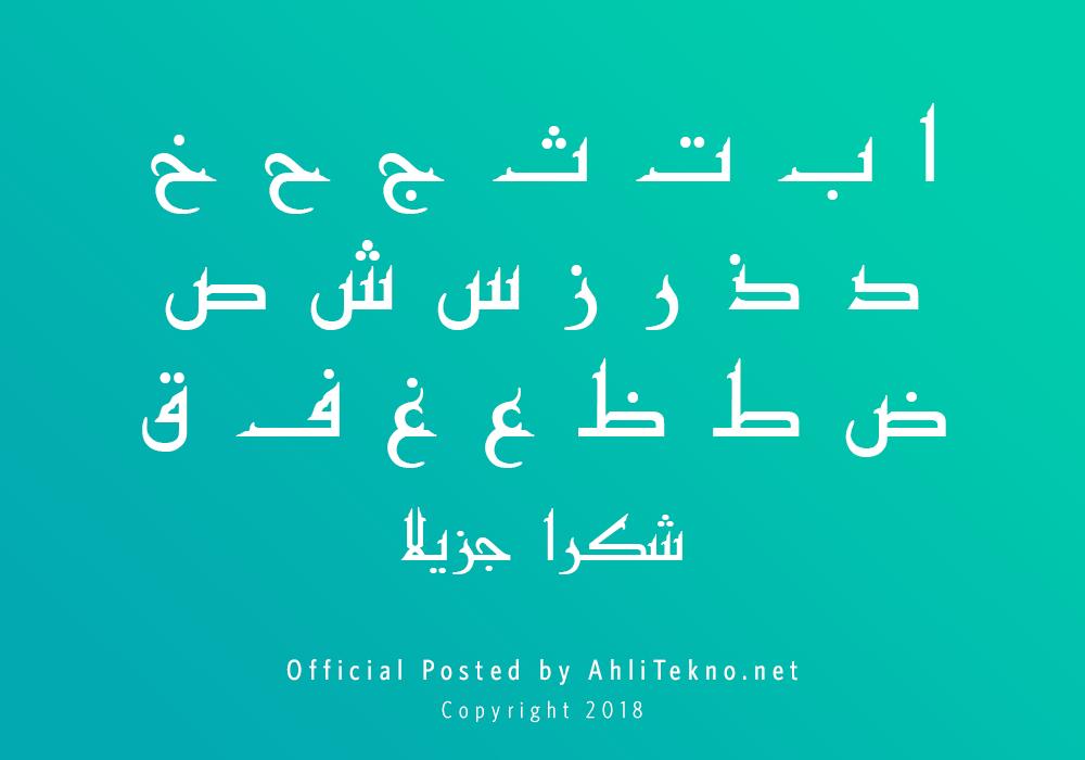 kumpulan font typography arabic keren (Kufi)