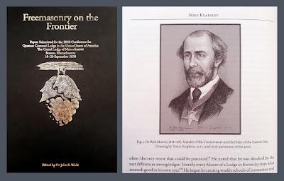Freemasonry on the Frontier. Quatuor Coronati Lodge No. 2076. Portrait of Rob Morris. by Travis Simpkins