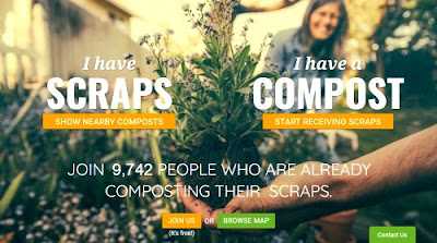 Screenshot of the Share Waste website where you can connect with neighbours to compost your food waste