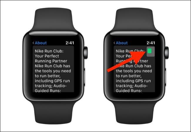 التنقل في وضع التكبير / التصغير على Apple Watch