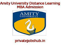 Amity University Distance Learning MBA Admission