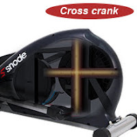 Heavy-duty Cross Crank for increased durability & added stability on SNODE E20 and E20i Elliptical Trainer Machines